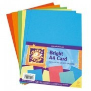 Assorted Bright A4 card