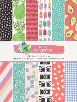 Colección de papeles Stay Sweet 6*8, Amy Tangerine