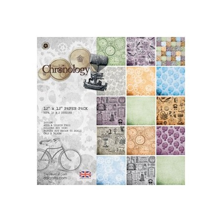 "Papel Chronology 12""*12"" Paper Pack"