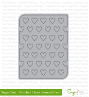 Notched Heart Journal Card
