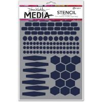 Dina Media Stencils - Essentials